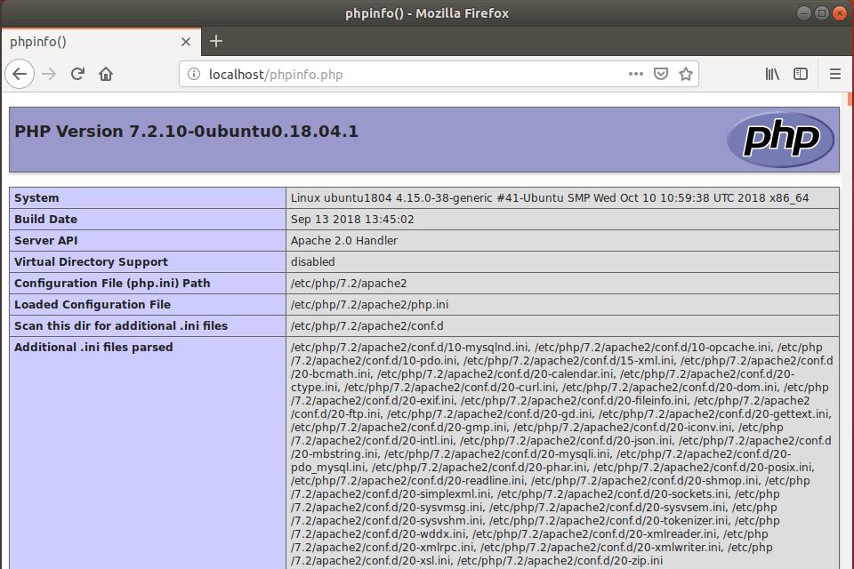 Тестовая страница php