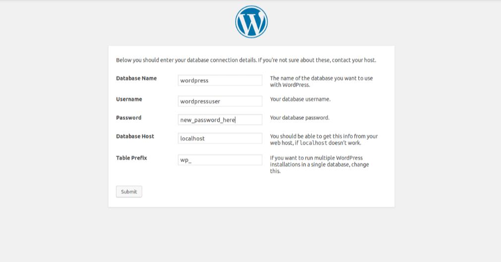 Настройка подключения к базе данных WordPress